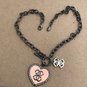 GUESS Always Famous Heart Link Necklace